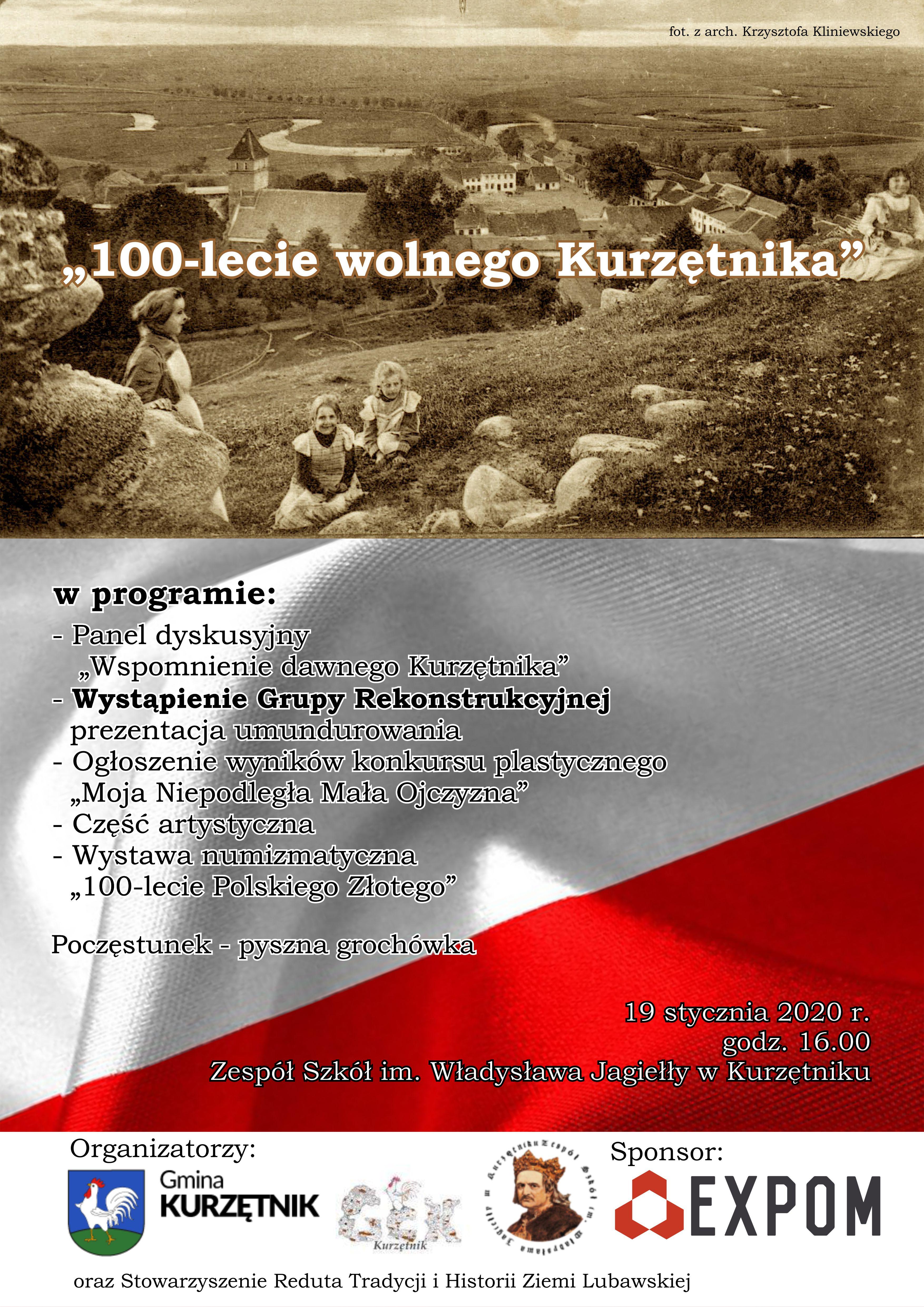 """Ilustracja do informacji: """"100-lecie wolnego Kurzętnika"""""""