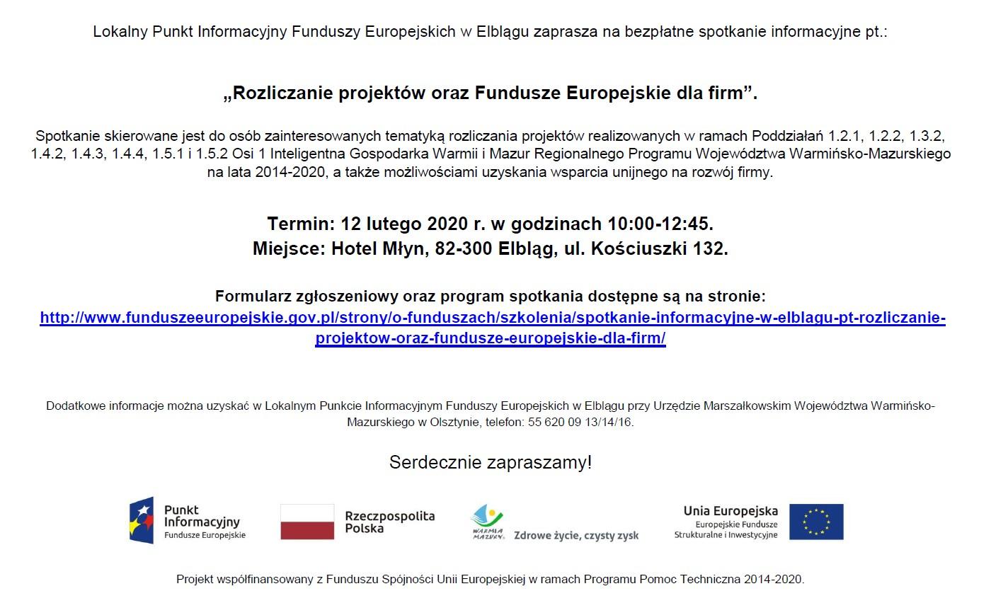 Ilustracja do informacji: Bezpłatne spotkanie - Rozliczanie projektów oraz Fundusze Europejskie dla firm