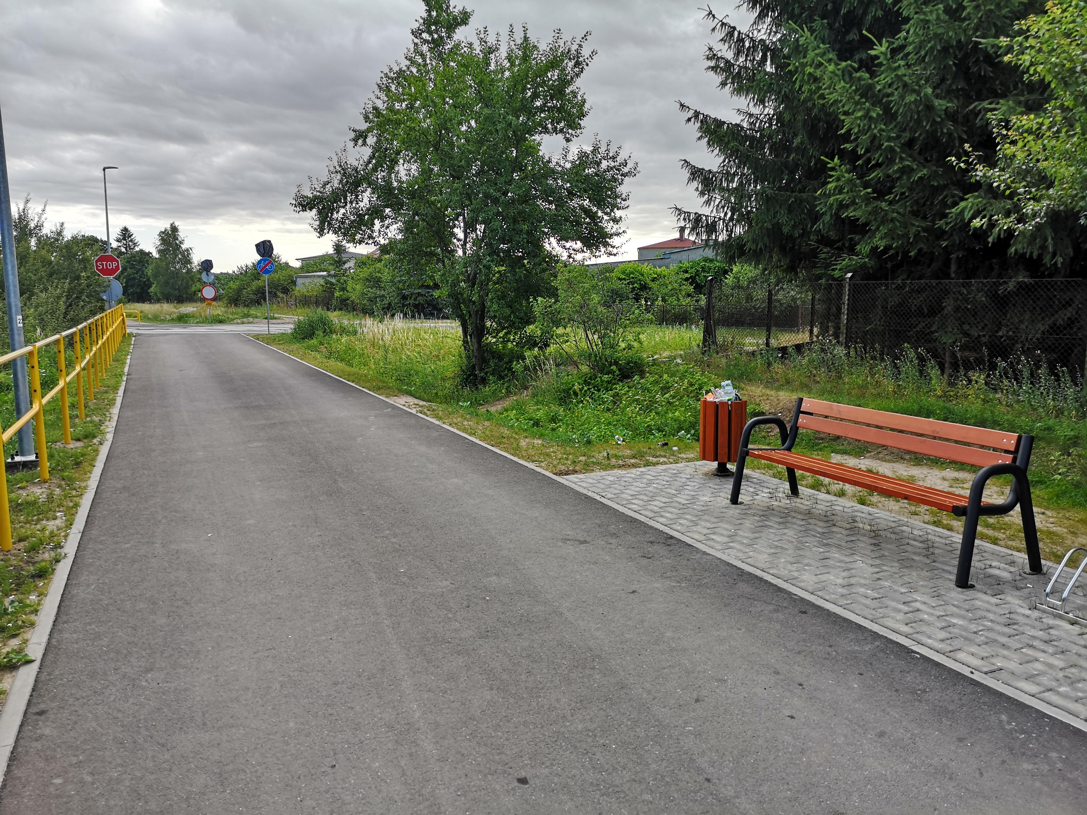 Ilustracja do informacji: Utworzenie ścieżki rowerowej z Kurzętnika do Kaługi wraz z infrastrukturą towarzyszącą – etap I