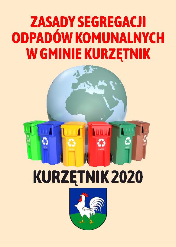 Ilustracja do informacji: Zasady segregacji odpadów komunalnych w Gminie Kurzętnik - ulotka