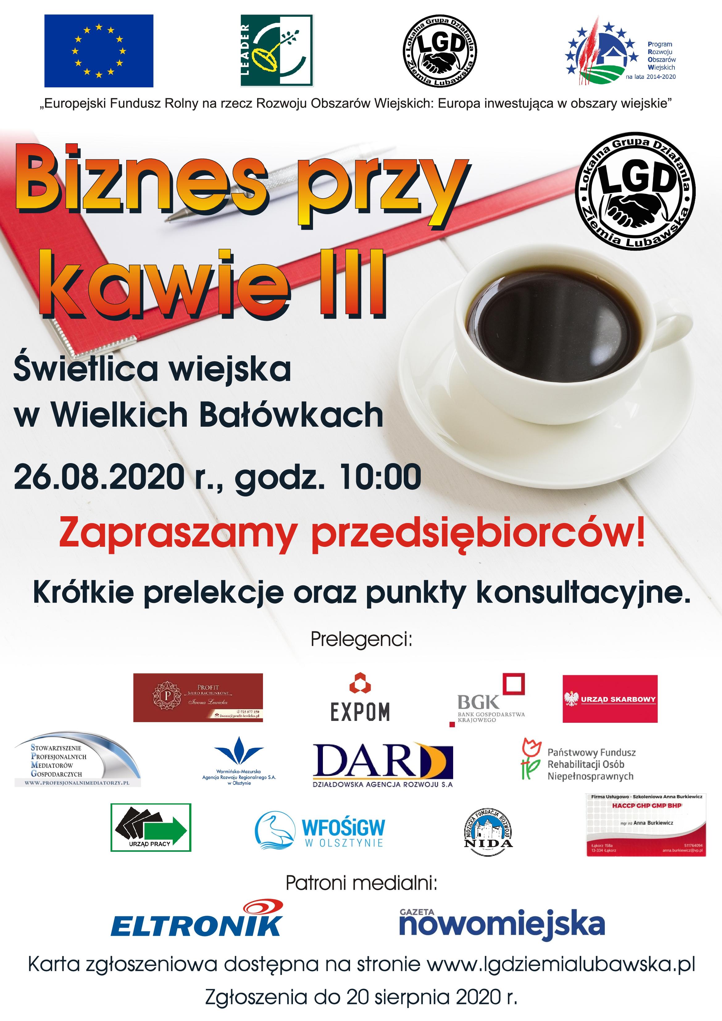 Ilustracja do informacji: Konferencja Biznes przy kawie III