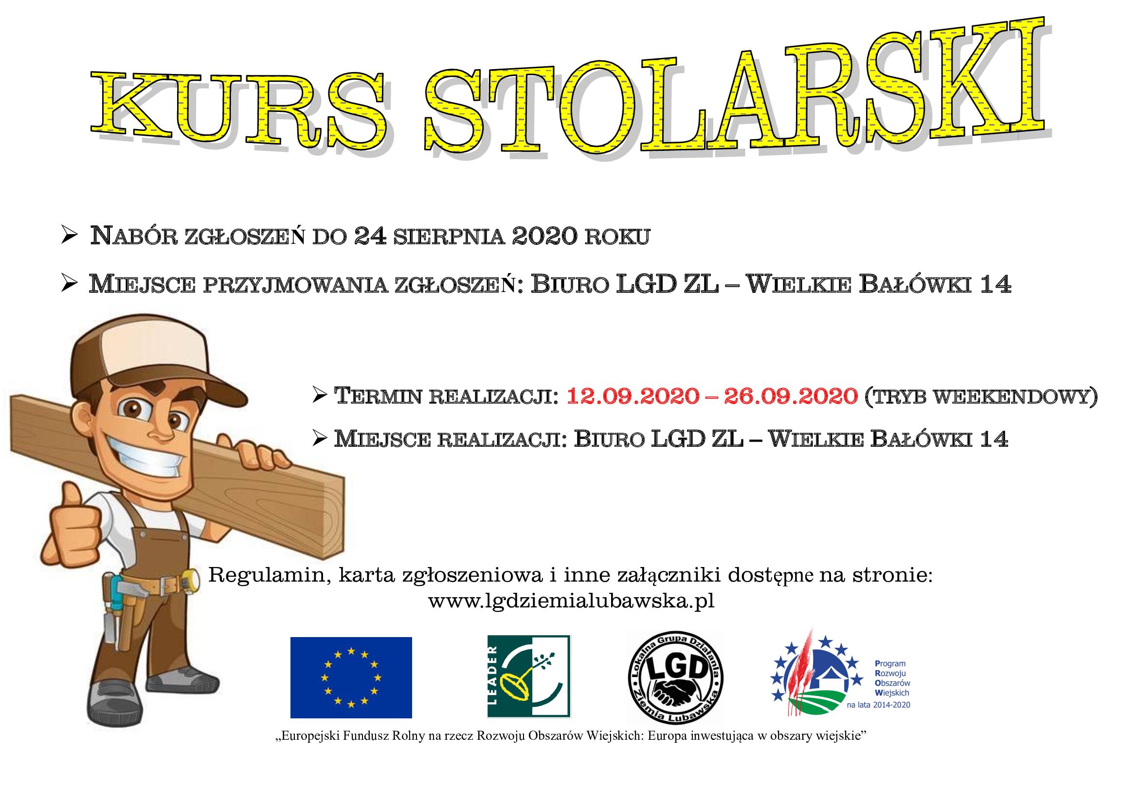 Ilustracja do informacji: kurs stolarski w Centrum Aktywności w Wielkich Bałówkach