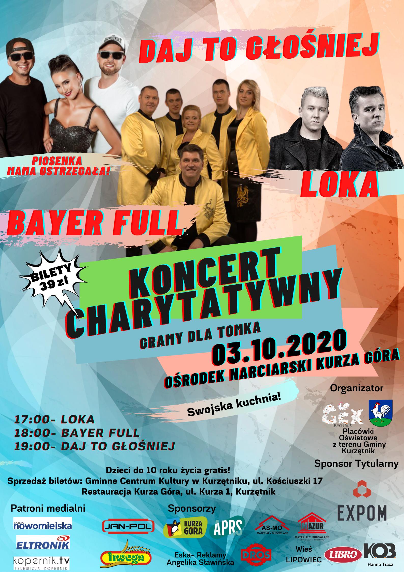 """Ilustracja do informacji: Koncert Charytatywny """"GRAMY DLA TOMKA"""""""