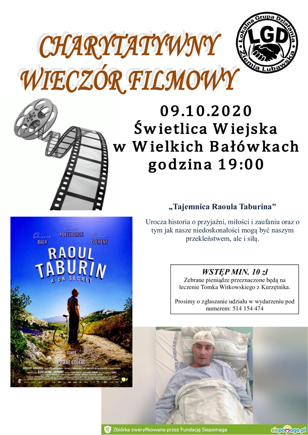 Ilustracja do informacji: Wieczór Filmowy w Świetlicy Wiejskiej w Wielkich Bałówkach!