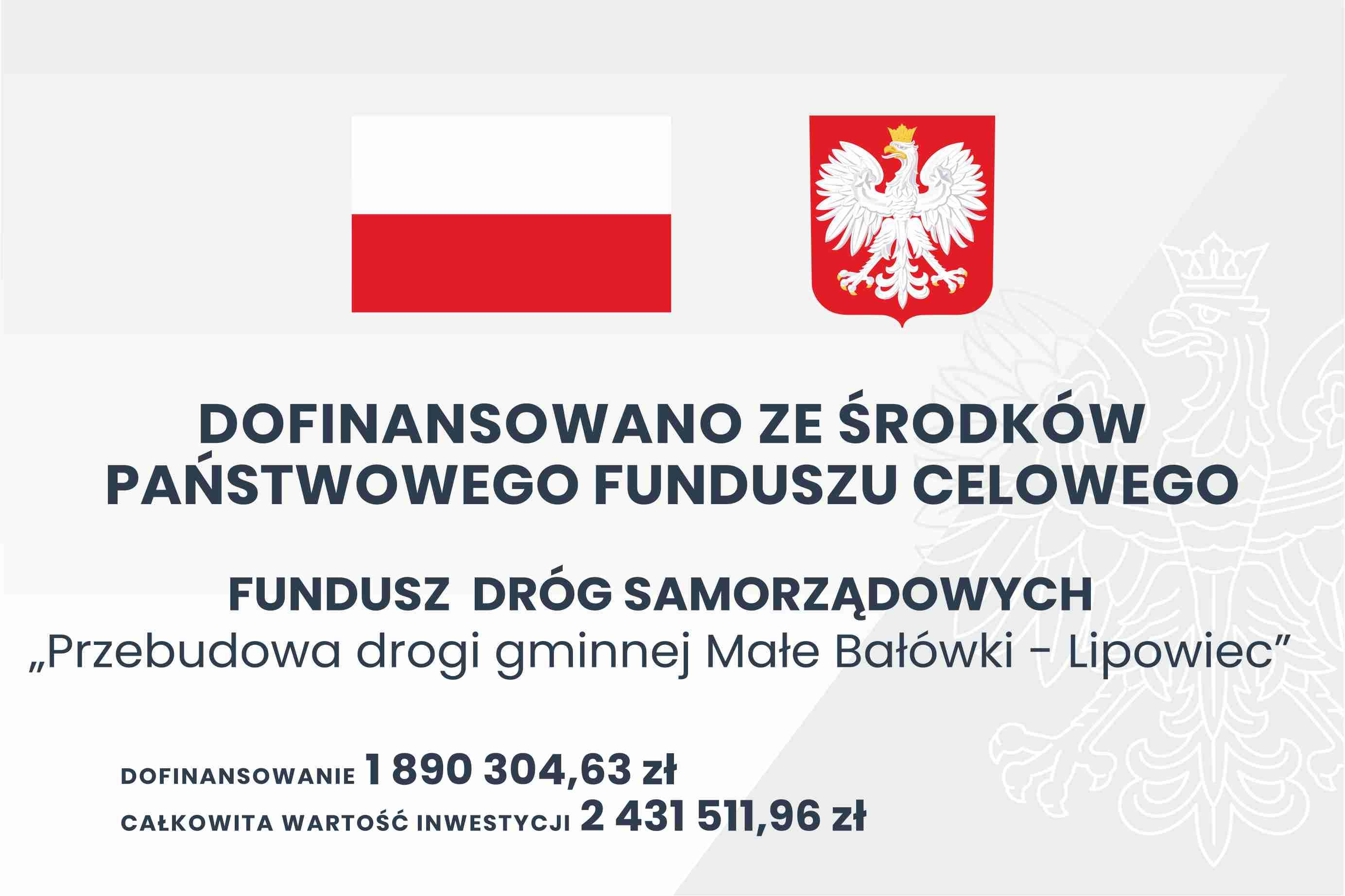 Ilustracja do informacji: Przebudowa drogi gminnej Małe Bałówki - Lipowiec