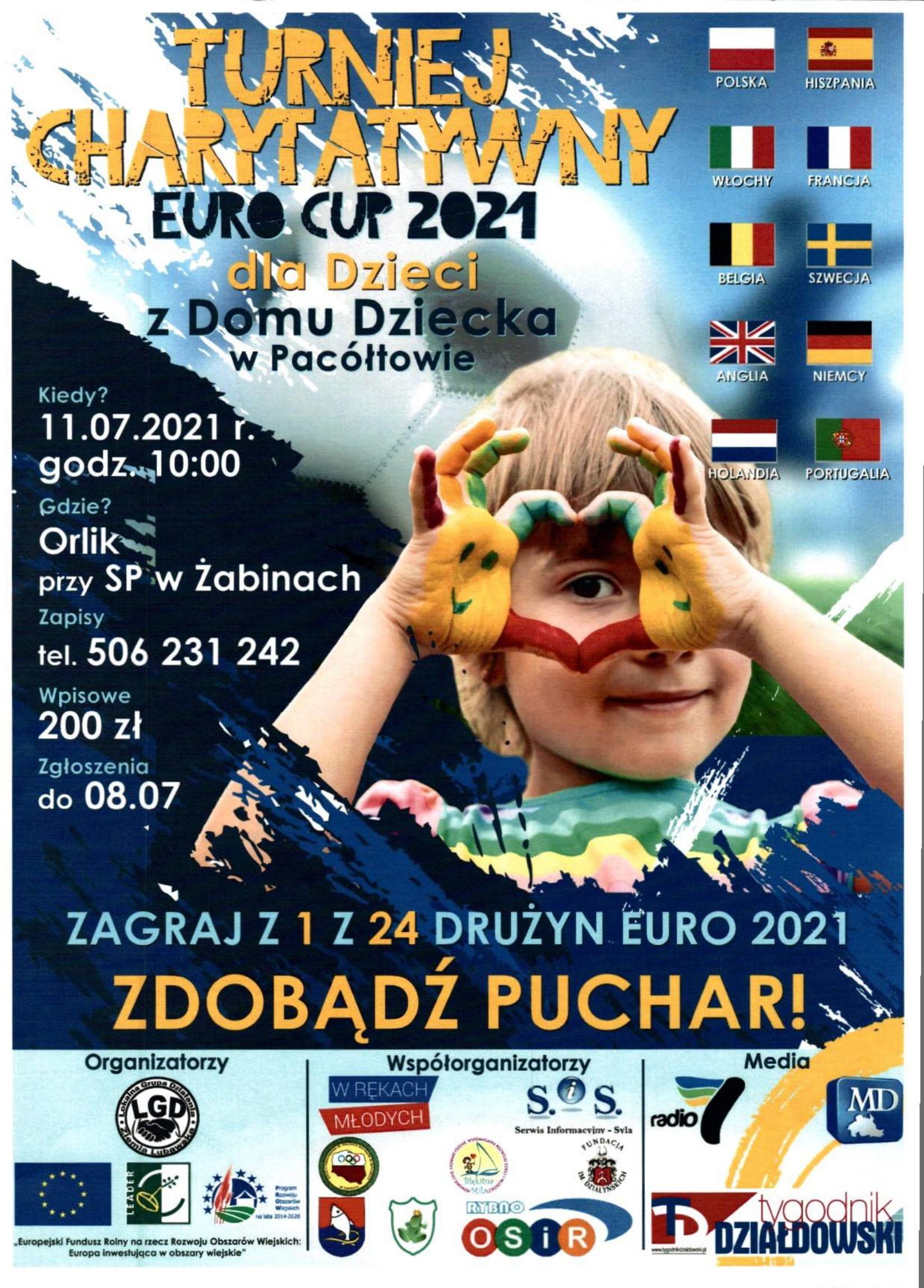 Ilustracja do informacji: Turniej charytatywny EURO CUP 2021 dla dzieci z Domu Dziecka w Pacółtowie